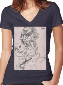 zombification Women's Fitted V-Neck T-Shirt