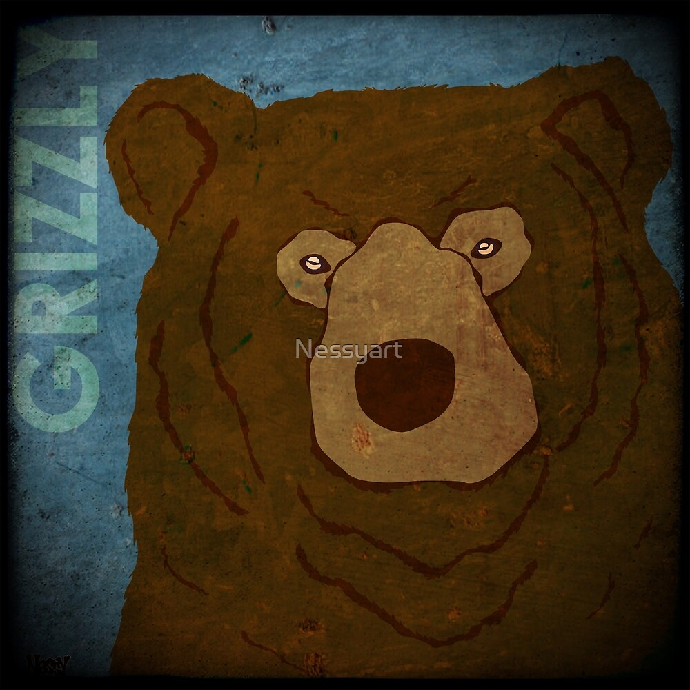 Grizzly Bear (Rustic) by Nessyart