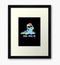 My Little Pony - MLP - Raindow Dash - Deal With It Framed Print