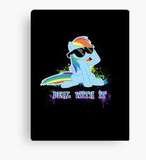 My Little Pony - MLP - Raindow Dash - Deal With It Canvas Print
