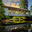 Larwood Covered Bridge by Charles & Patricia   Harkins ~ Picture Oregon