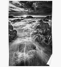 Rocky Seascape Poster
