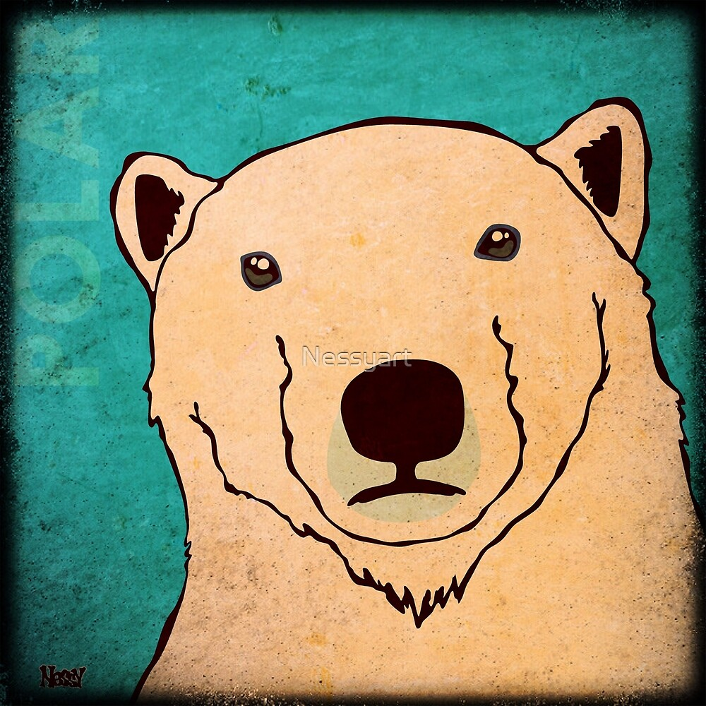 Polar Bear (Rustic) by Nessyart