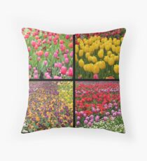 grouped flowers Throw Pillow