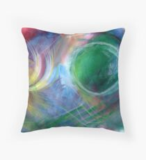 abstraction renewing energy Throw Pillow