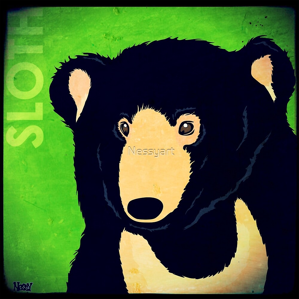 Sloth Bear (Rustic) by Nessyart