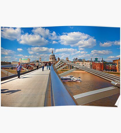 St Pauls Cathedral from Millennium Bridge London Poster