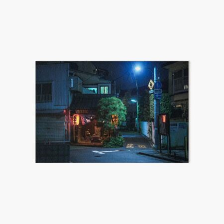 Tokyo Neighborhood Art Board Print