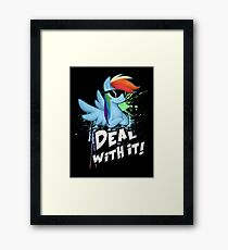 My Little Pony - MLP - Rainbow Dash - Deal With It Framed Print