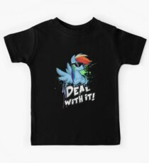 My Little Pony - MLP - Rainbow Dash - Deal With It Kids Tee