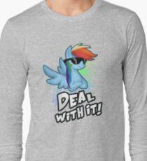 My Little Pony - MLP - Rainbow Dash - Deal With It Long Sleeve T-Shirt