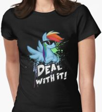 My Little Pony - MLP - Rainbow Dash - Deal With It Women's Fitted T-Shirt