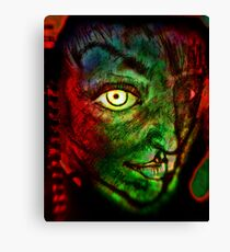 "Sketchbook Page 36, ""The Alien"" Canvas Print"