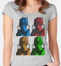 Old Skool Cybermen Women's Fitted Scoop T-Shirt
