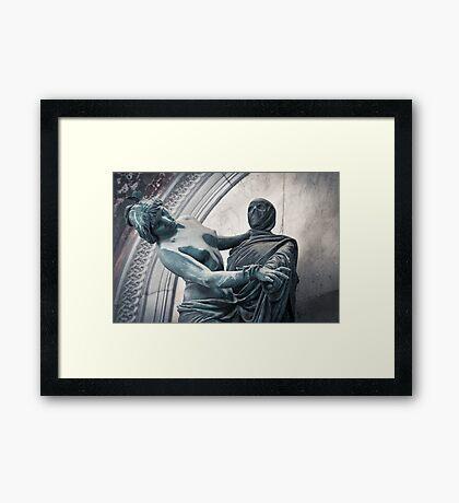 Death & the Maiden Framed Print