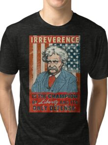 Mark Twain Irreverence & Liberty Tri-blend T-Shirt