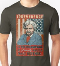 Mark Twain Irreverence & Liberty Unisex T-Shirt