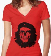 Che of the Dead Revolución de la Muerte Women's Fitted V-Neck T-Shirt