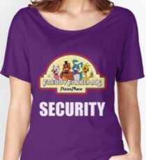 Five Nights at Freddy's - FNAF 2 -  Freddy Fazbear's Security Logo Women's Relaxed Fit T-Shirt