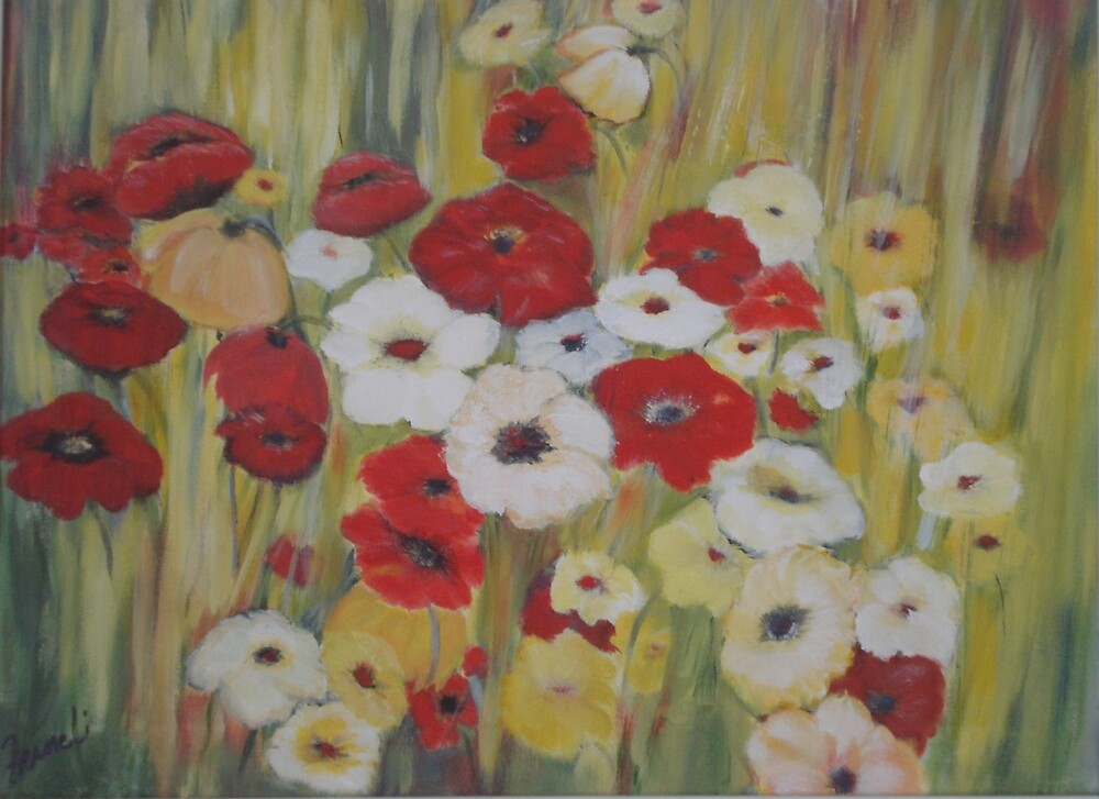 Field of Flowers by Phyllis Frameli