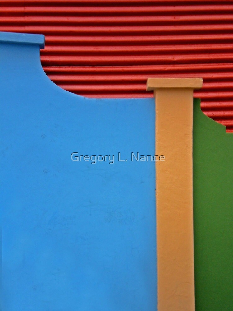 La Boca Abstract - Buenos Aires by Gregory L. Nance