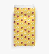 Questionable Breakfast Flirting Duvet Cover