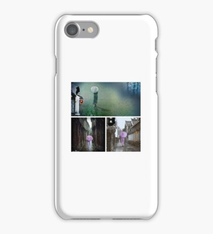 collage for the poem-雨巷..... iPhone Case/Skin