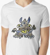 Funny Cartoon Monstar 012 Men's V-Neck T-Shirt