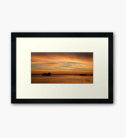 Big Sunset, Big Rideau Lake Framed Print