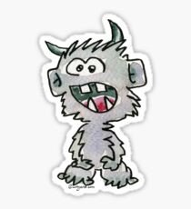 Funny Cartoon Monstar Monster 017 Sticker