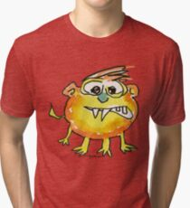 Funny Cartoon Monstar 021 Tri-blend T-Shirt