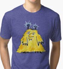 Funny Cartoon Monstar Monster 029 Tri-blend T-Shirt