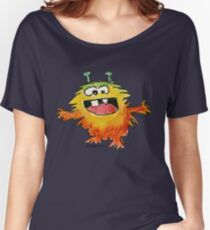 Funny Cartoon Monstar Monster 030 Women's Relaxed Fit T-Shirt