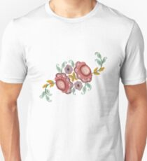 'Irish Rose' embroidery Unisex T-Shirt