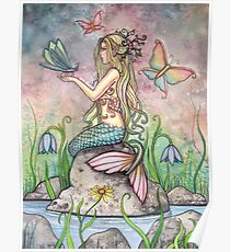 """Creekside Magic"" Mermaid Art by Molly Harrison Poster"