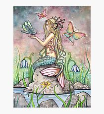 """Creekside Magic"" Mermaid Art by Molly Harrison Photographic Print"