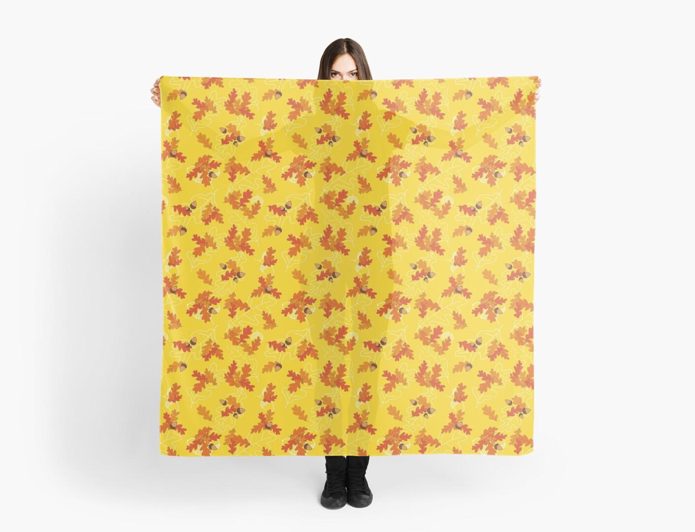 OAK LEAVES yellow by Lena Zembrowskij