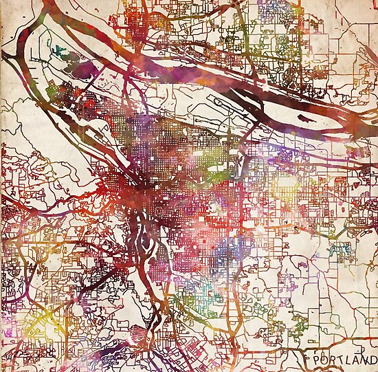 Portland map by MapMapMaps