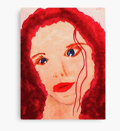 Carrie's Portrait, watercolor Canvas Print