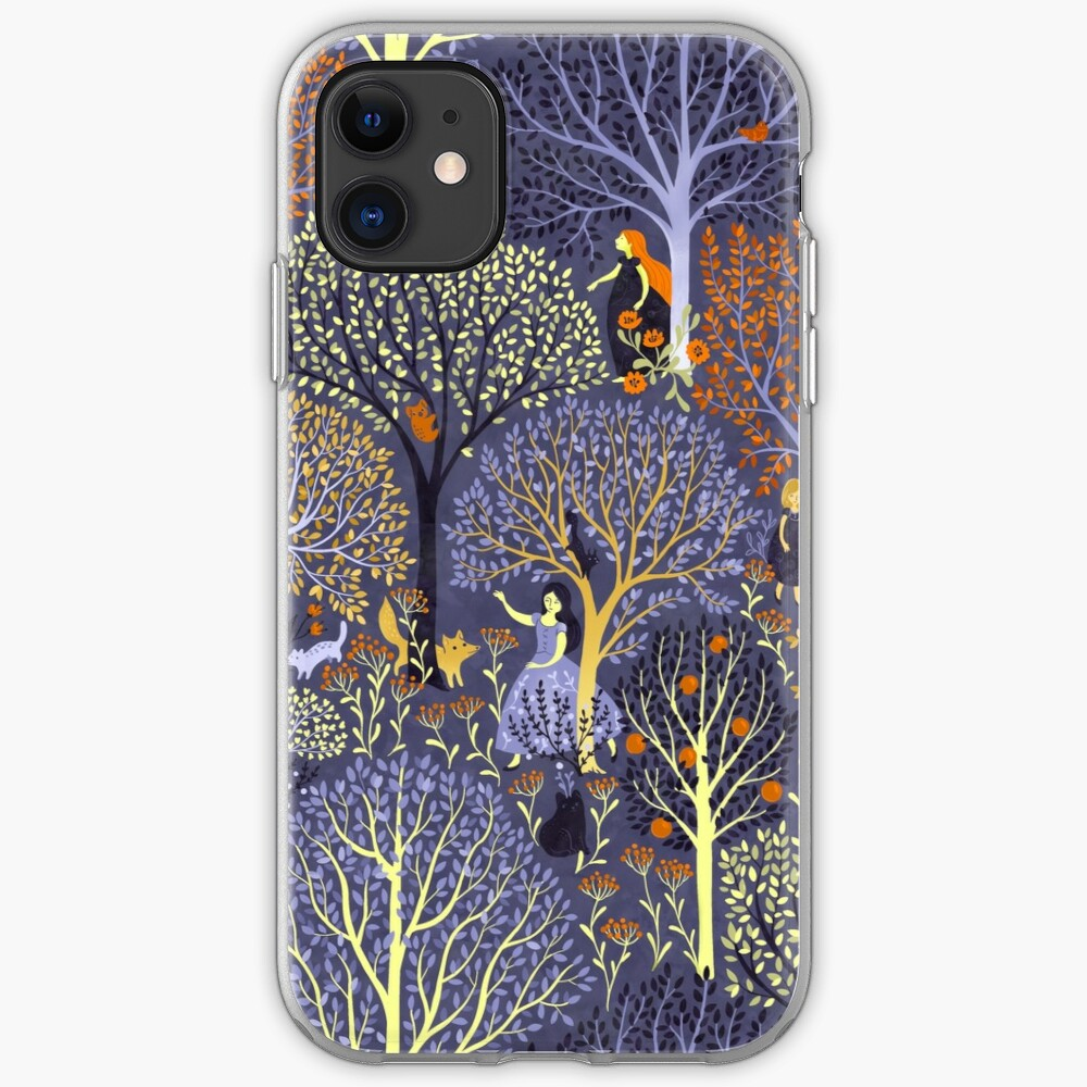 Magical Forest in blue iPhone Case & Cover