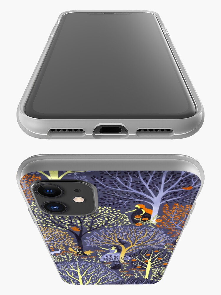 Alternate view of Magical Forest in blue iPhone Case & Cover