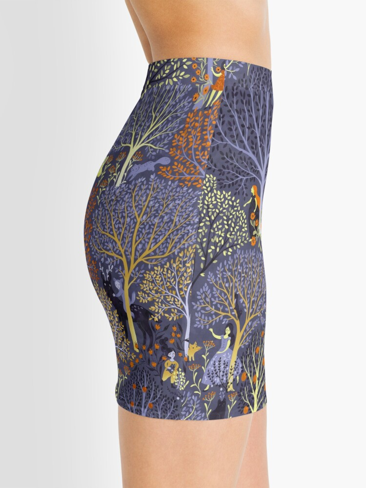 Alternate view of Magical Forest in blue Mini Skirt