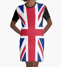 UK Union Jack ensign flag - Authentic version (Duvet, Print on Red background)  Graphic T-Shirt Dress