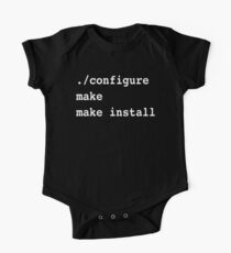 ./configure make make install for sysadmins and Linux users One Piece - Short Sleeve