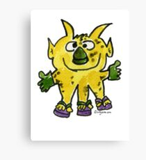 Funny Cartoon Monstar Monster 003 Canvas Print
