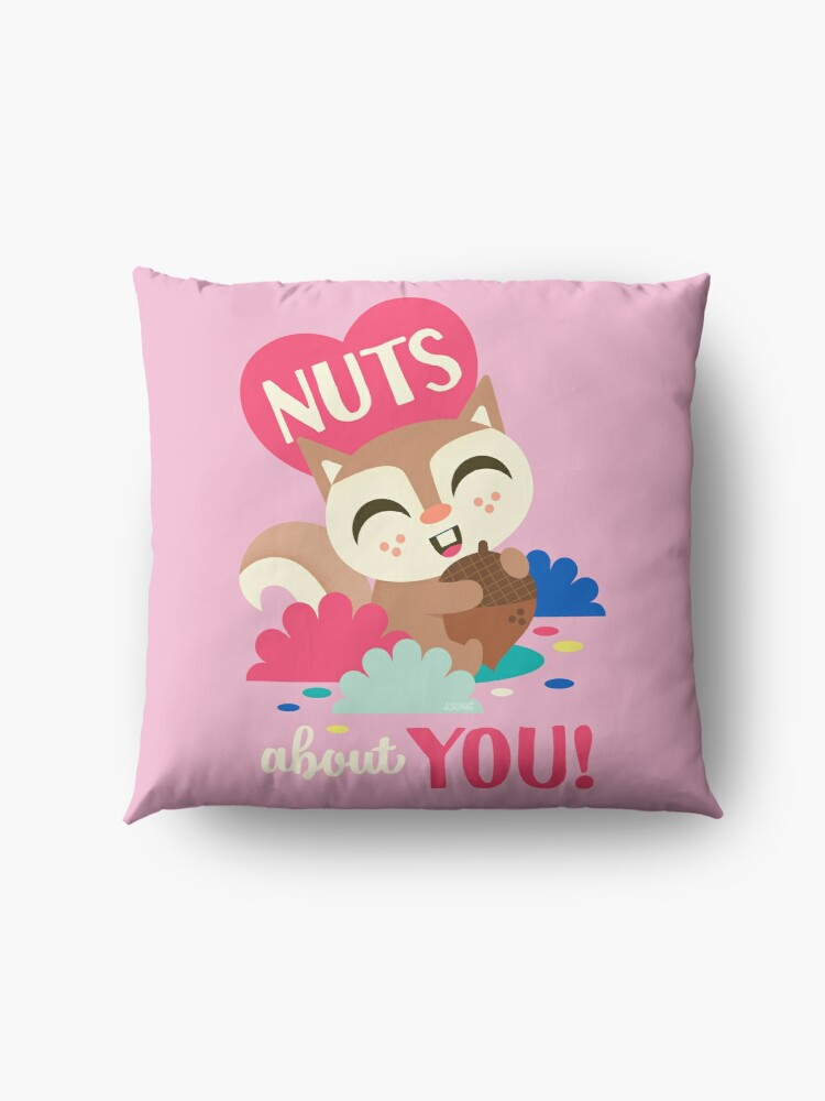 Alternate view of Nuts about You!  Floor Pillow