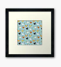 Chicken Pattern Framed Art Print