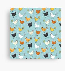 Chicken Pattern Canvas Print