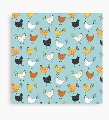 Chicken Pattern Canvas Print