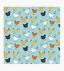 Chicken Pattern Photographic Print
